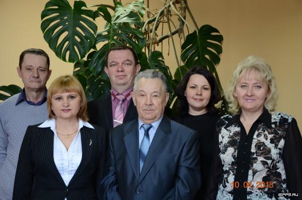Слева направо: Н.А. Остудин, Р.Н. Повышева, С.Н. Гришанов, Ю.А.Яшин, С.М. Царева, О.А. Серова
