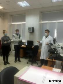 Ознакомительная экскурсия в ИБФРМ РАН для студентов СГУ в рамках учебной практики