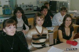 Студенты, специализирующиеся по кафедре органической и биоорганической химии СГУ, на занятиях в ИБФРМ РАН (2008/2009 учебный год)